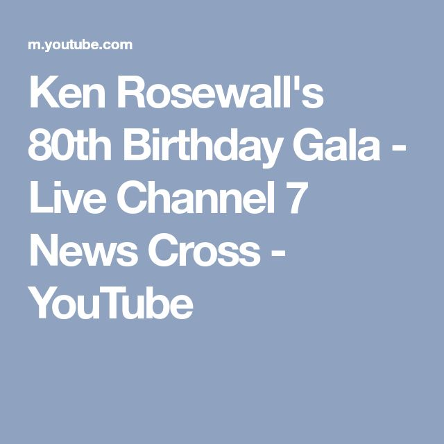 Ken Rosewall's 80th Birthday Gala - Live Channel 7 News Cross - YouTube
