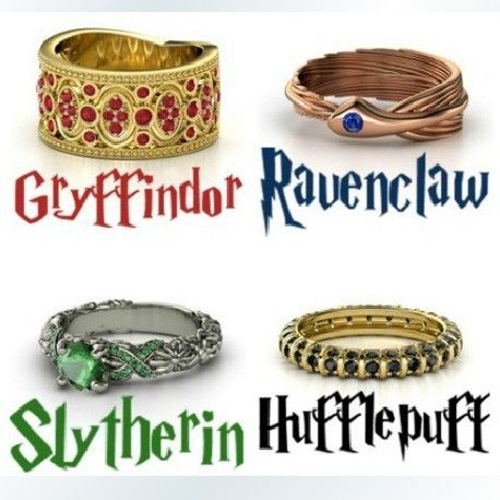 Harry Potter rings | Ingrosso Daren Harry Potter anello scuola gryffindor slythrin ..