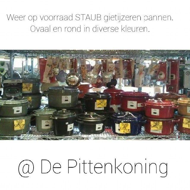 #Pittenkoning #Amsterdam #Depijp #Braadpannen #Staub #Aanbieding #sale #sep14 #castiron #gietijzer #kitchentools #kitchenware #kokenmetgietijzer #kookwinkel Ze staan voor u klaar!!