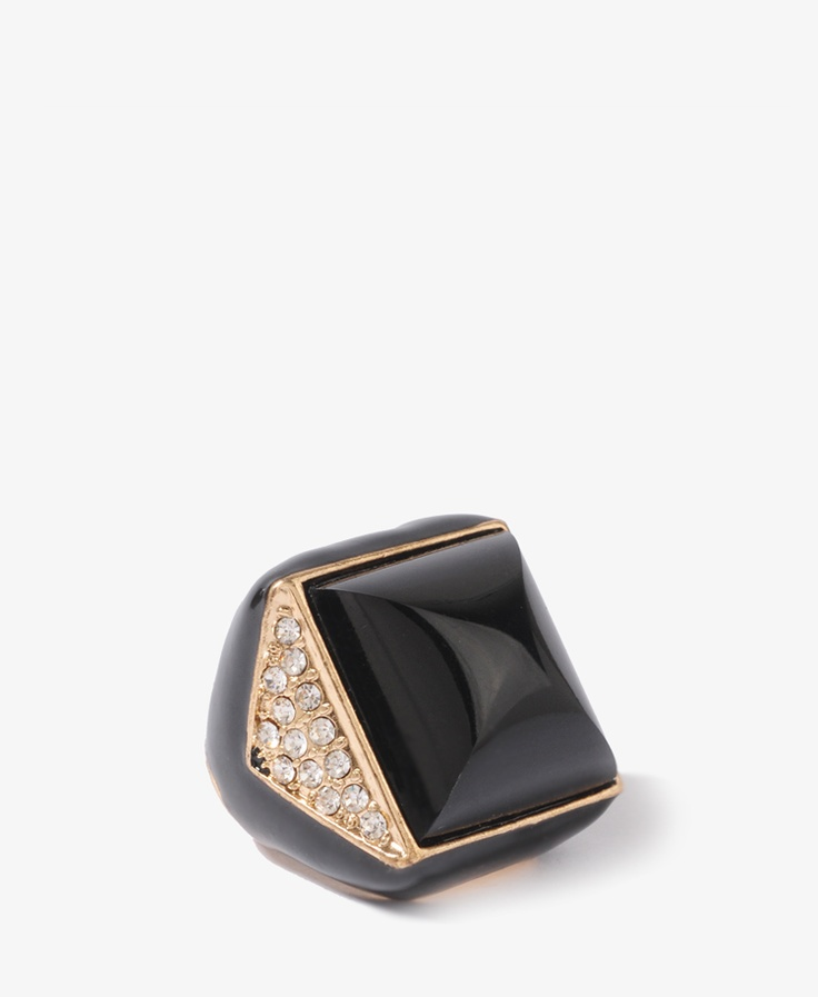 Colorblocked Cocktail Ring