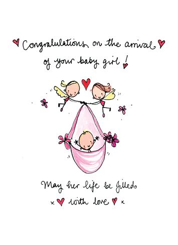 Congratulations on your new born baby girl | crafty idea's