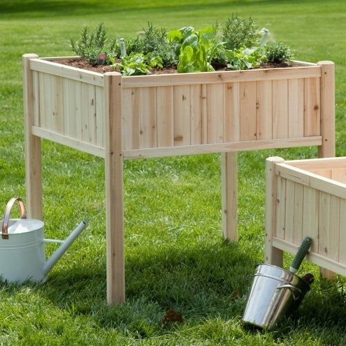 tall vegetable garden planters   ... it at the Foundary - Cedar Patio Planter - Tall - 36L x 36W x 36H in