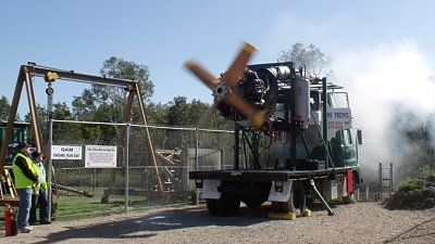 The Air Museum at Caloundra has engine run days to excite the imagination.