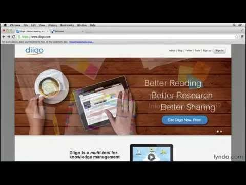 Education tutorial: Exploring social bookmarking with Diigo | lynda.com - YouTube