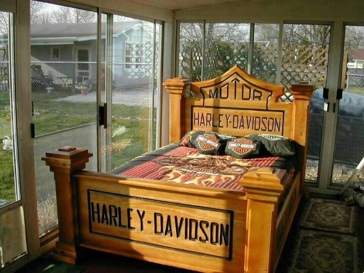Harley Davidson Bedroom Headboard And Footboard My Hubby Would