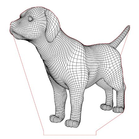 Labrador Puppy Dog 3d Illusion Lamp Vector File For Laser And Cnc 3bee Studio 3d Illusions 3d Illusion Lamp Dog Vector