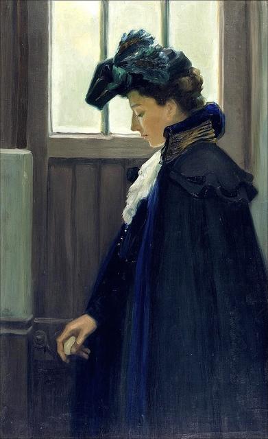 EDELFELT, Albert - At the door, 1901