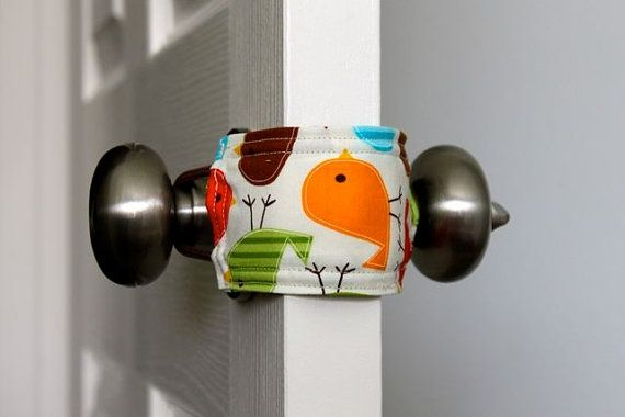 door jammer - makes for quiet doors with sleeping babies. make my own. diy-baby-stuff