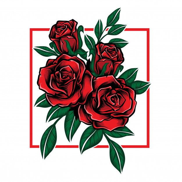 Rose Flower With Leaf Vector In 2020 Leaves Vector Graphic Tshirt Design Aesthetic Roses