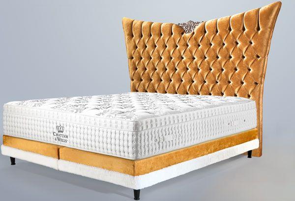 Boxspringbett Luxus Gold