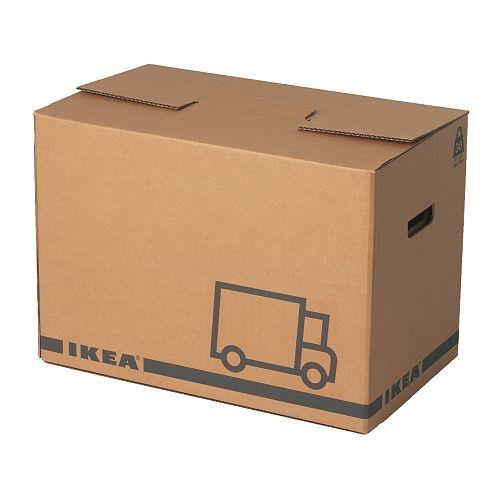 IKEA - JÄTTENE, Carton d'emballage, Des découpes latérales vous permettent de soulever et de transporter plus facilement la boîte.
