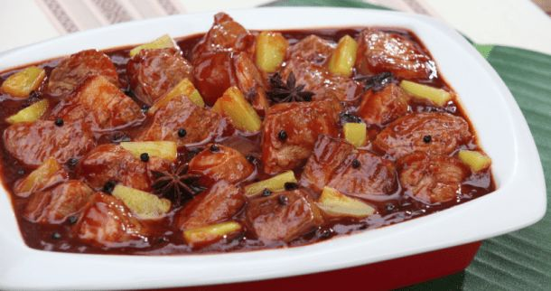 Ingredients: 2 tbspBrown Sugar 1 kgPork Kasim(cut into chunks) 3 tbspCooking Oil 2 tbspTausi(without brine) 4 clovesGarlic(crushed) 2 tbsp + 2 tsp Soy Sauce 1 pcLaurel ½ tspPeppercorn 3 pcStar Anise ½ literWater ¼ cupDel MonteRed Cane Vinegar 3 pouches Continue reading   Pork Humba with Pineapple Recipe→