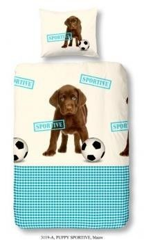 Kids-Style Dekbedovertrek 3119 Puppy sportive