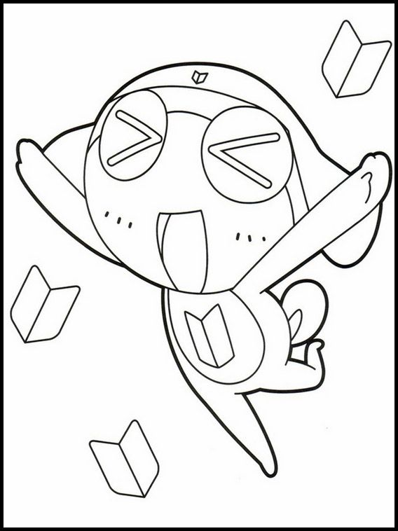 Sgt Frog 10 Printable Coloring Pages For Kids Coloring Pages For Kids Online Coloring Pages Coloring Pages
