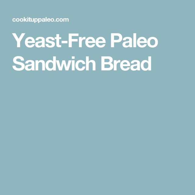 Yeast-Free Paleo Sandwich Bread
