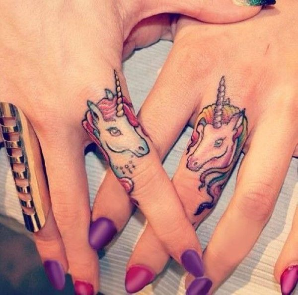 Unicorn Tattoos- because only we believe in unicorns