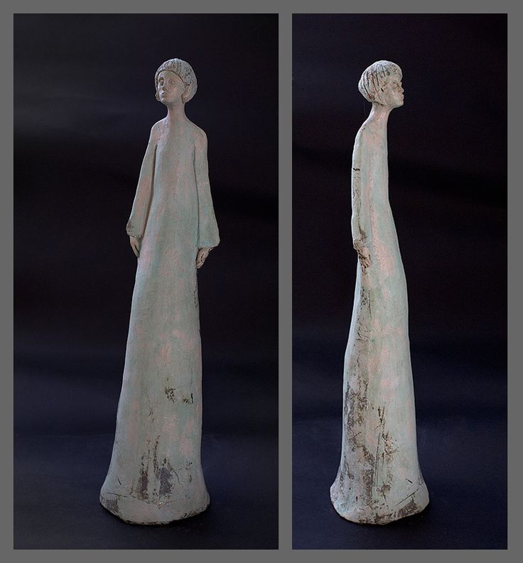 Sylwia Łabaj - ceramic sculpture, figure of woman