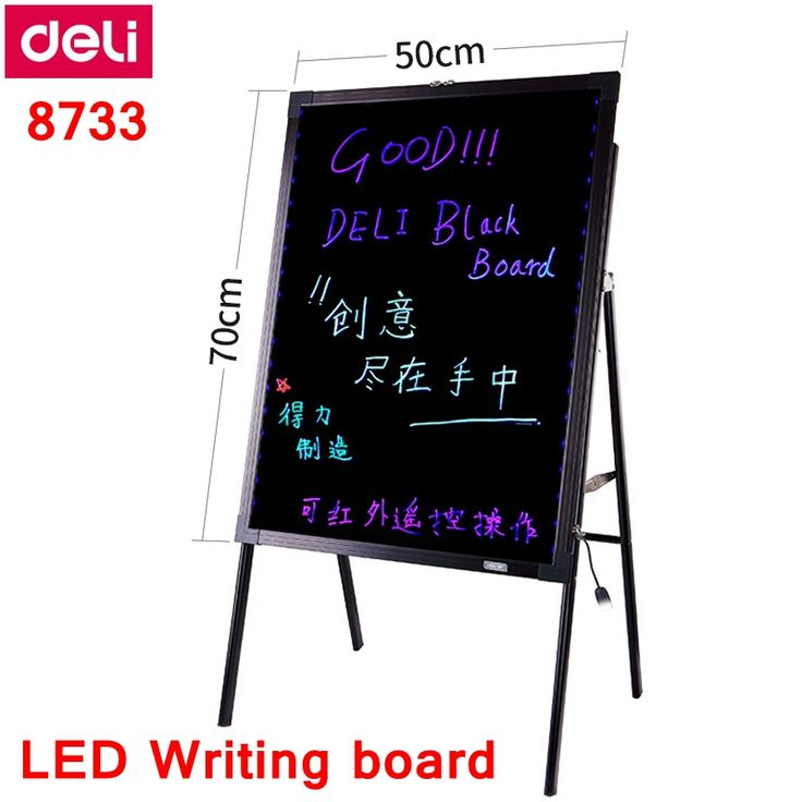 """Check Discount Deli 8733 LED Writing board 20x28""""(50x70cm) Electronic fluorescent board with Stand 16 color LED Billboard #Deli #8733 #Writing #board #20x28""""(50x70cm) #Electronic #fluorescent #with #Stand #color #Billboard"""