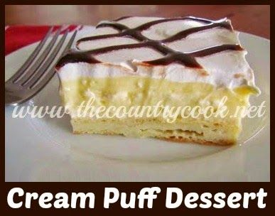 The Country Cook: Cream Puff Dessert