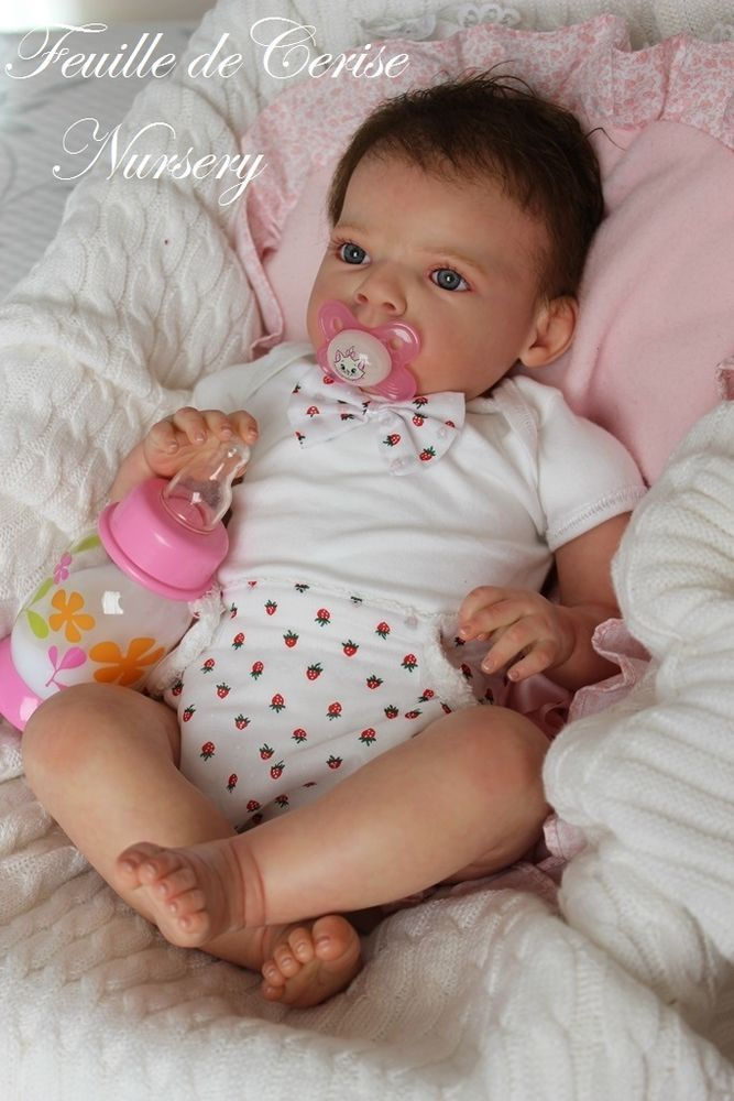 Feuille de Cerise Nursery - baby reborn doll girl kit Sabrina by Reva Schick