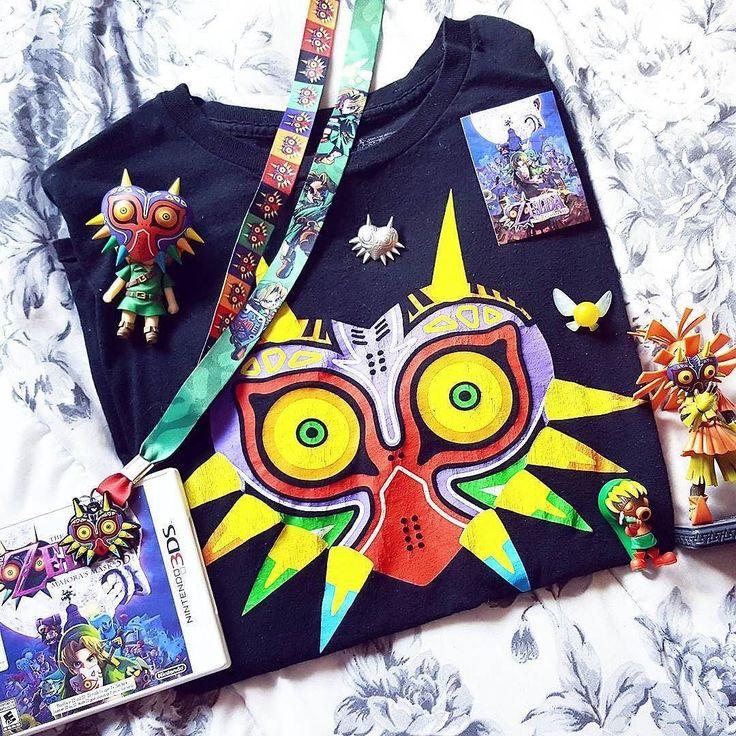 Morning everyone!!!! Majora's mask madness by #Repost @alienofthemoon. What is your favourite mask???  #zelda #geek #wiiu #n64 #3ds #majorasmask #legendofzelda #link #ganon #happymasksalesman #zora #goron #masks #geekgirl #geeks #gamer #games #ninstagram #loz #deku #chuchu #happy #retro #nostalgia #termina #clocktower