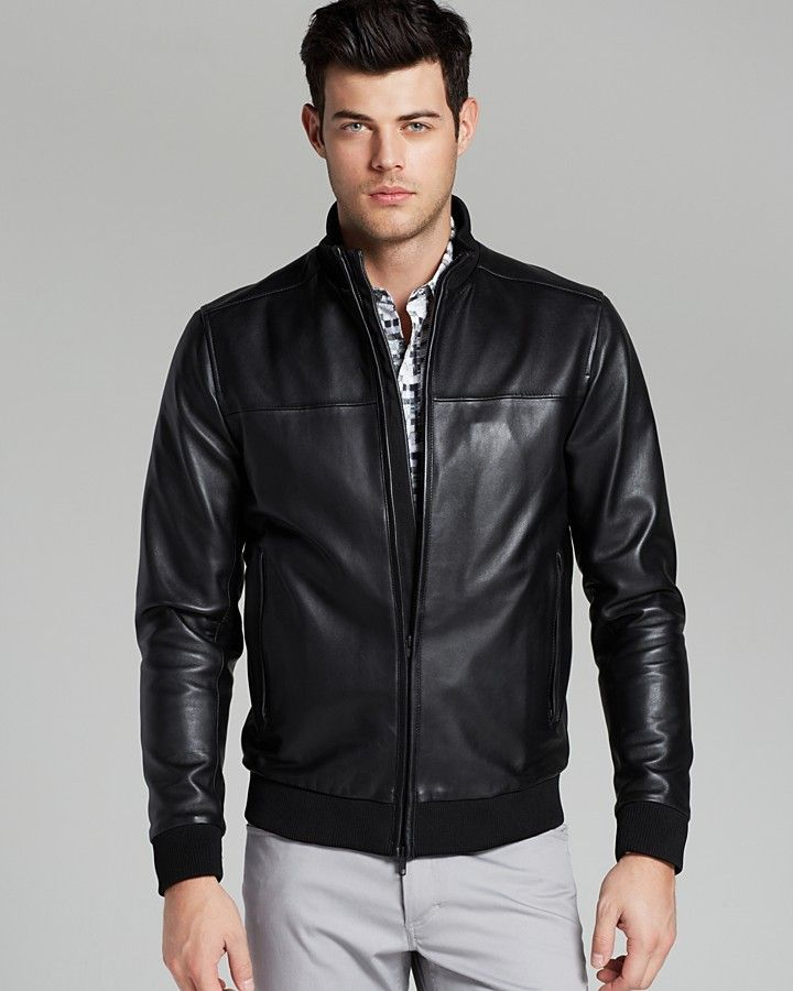 17 best ideas about Leather Bomber Jackets on Pinterest | Black ...