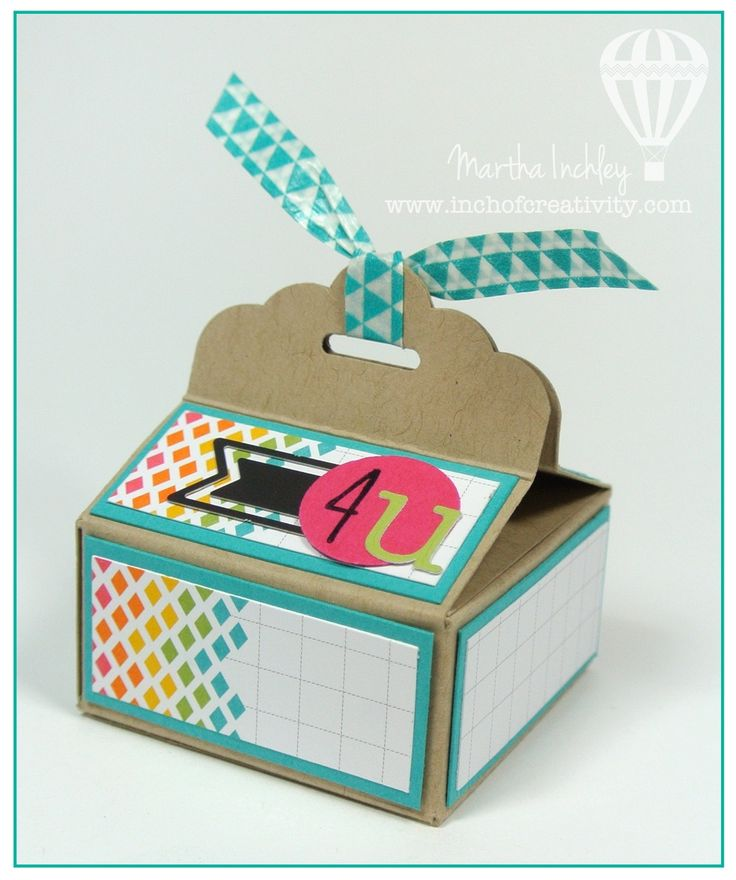 Inch of Creativity: Scallop Tag Topper Box with Instructions! Anleitung