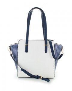 Fehér-kék táska Grid