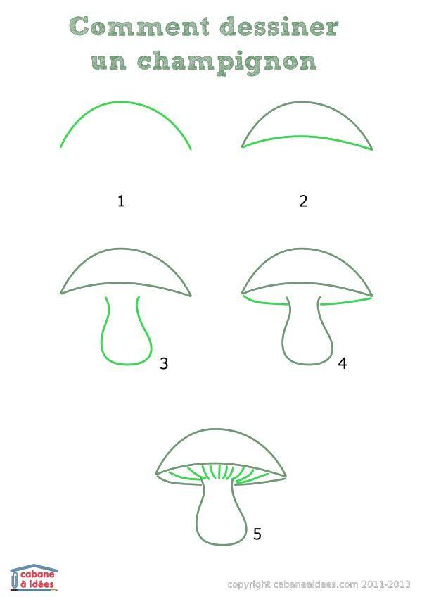 les 25 meilleures id es concernant champignon dessin sur pinterest dessin de champignon art. Black Bedroom Furniture Sets. Home Design Ideas