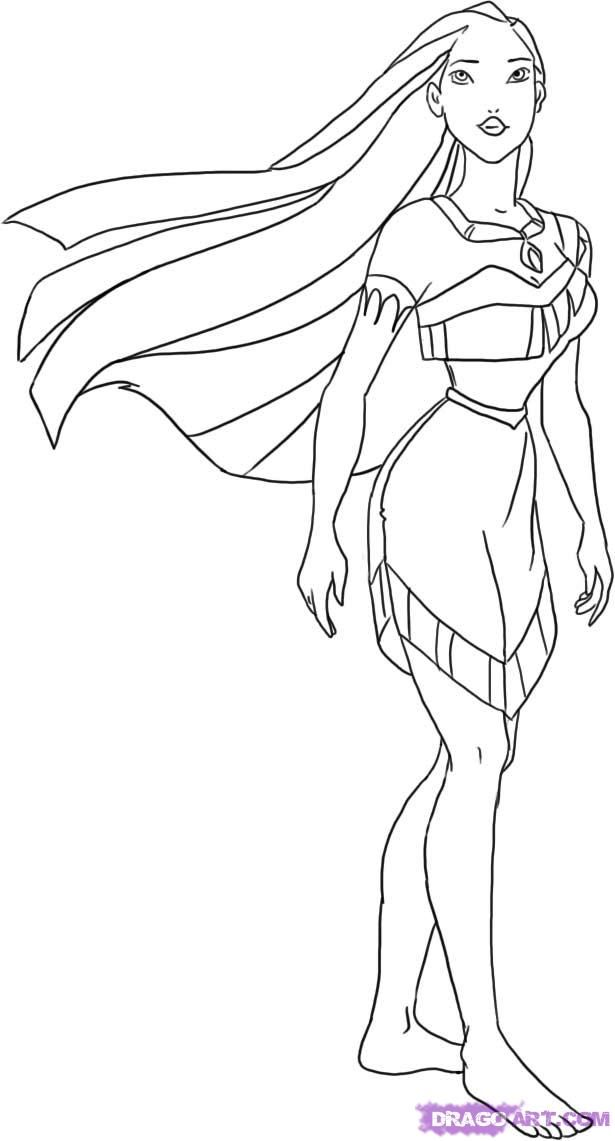 Pocahontas Coloring Pages | Kids Coloring Page | Disney ...