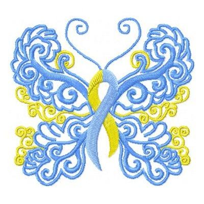 "Down Syndrome Awareness butterfly with ""Omne Trium Perfectum"" (Everything in threes is perfect) for new tattoo"