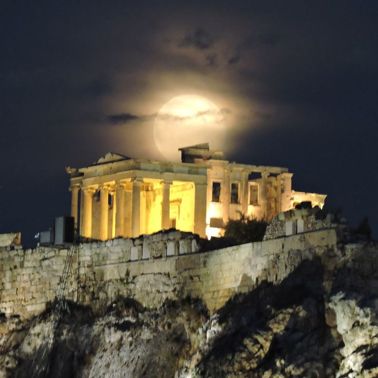 Full moon over the Acropolis ~ July 31, 2015 (photo Billy's)
