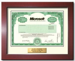 Buy one share of Microsoft stock in 2 minutes for yourself or as a gift.: Stockings Gifts, Gifts Ideas, Education Gifts
