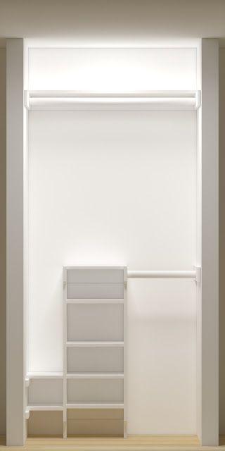 Easy Small Closet Organizer | http://workingdesigncollections.blogspot.com