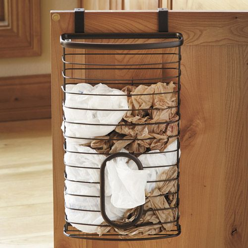 Plastic bag storage basket.