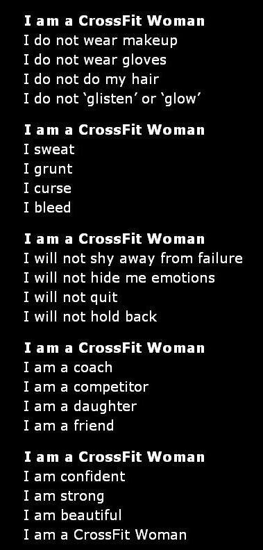 Yeah, crossfit women! Soon I will be an official crossfit woman!!