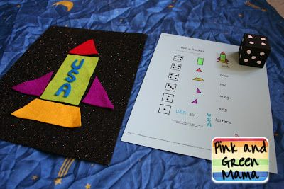 Solar System Projects - Outer Space Themed Crafts, Activities, and Games. build a rocket ship game