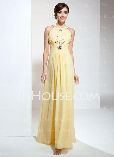 Prom Dresses - $128.99 - A-Line/Princess Halter Floor-Length Chiffon Prom Dress With Ruffle Beading (018020617) http://jjshouse.com/A-Line-Princess-Halter-Floor-Length-Chiffon-Prom-Dress-With-Ruffle-Beading-018020617-g20617