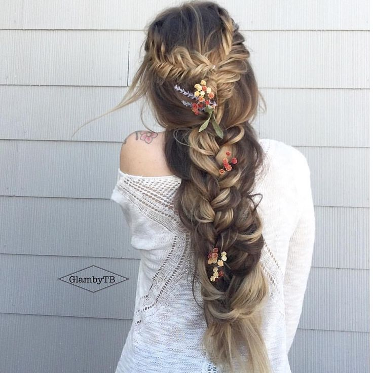 "BRAIDS • BOHO HAIR • WEDDINGS on Instagram: ""{ modern day repunzel } • #glambytoriebliss #btconeshot_updos16 #btconeshot_braids16"""