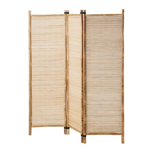 Bamboo with clear lacquer room divider or folding screen from IKEA. $50 NIPPRIG 2015