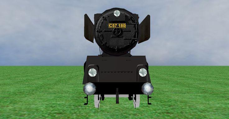 JNR C57 steam loco frontview