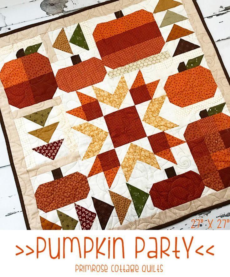Pumpkin Party Craftsy Fall Quilt Patterns Halloween Quilt Patterns Quilts