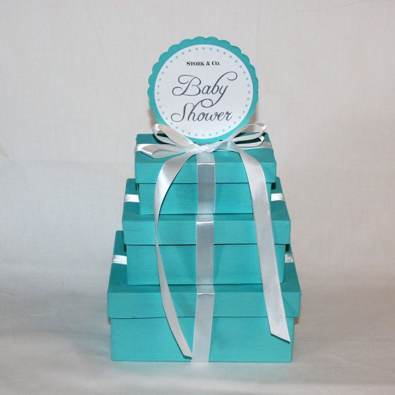 baby shower centerpieces tiffany co inspired box tiffany blue and
