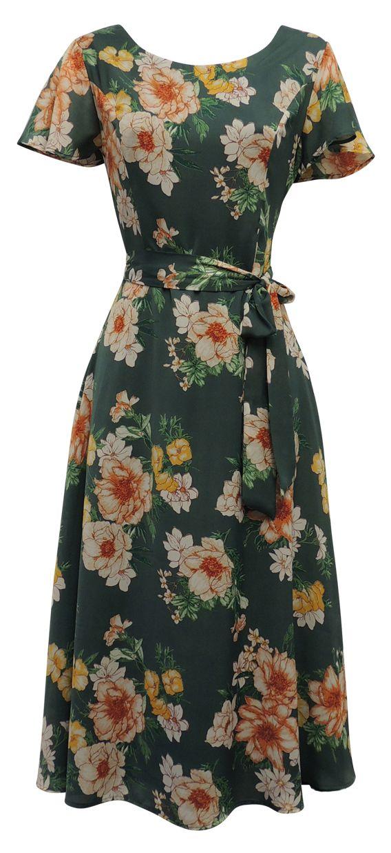 1940s Style Dresses, Fashion & Clothing