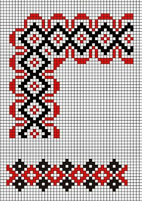 Romanian traditional embroidery template