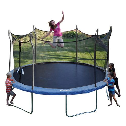 Great value on a full size 14' trampoline 16% more jumping surface than a 13' trampoline A fully enclosed mesh enclosure is soft and protects from falls while allowing jumpers to play with confidence and fun Must present Hot Deals Coupon in store to receive special Value Price. *Exclusions: Cannot be used with any other …  #GetintheGame