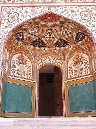 Gate to the Amber Palace, Jaipur, India