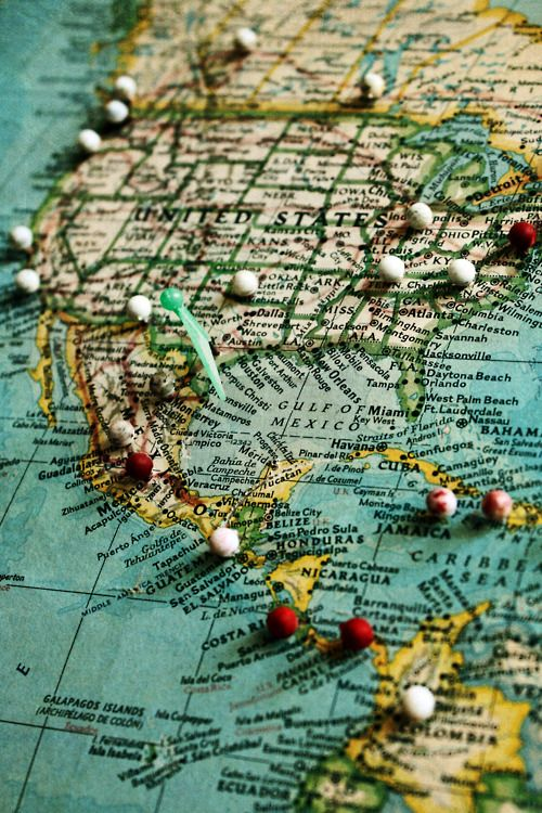 DIY Crafts - Travel - Wanderlust - Map your travels. Pin where you've been and where you want to go. Find this map and more here http://www.mapsales.com/?utm_source=pinterest&utm_medium=pin&utm_campaign=caption