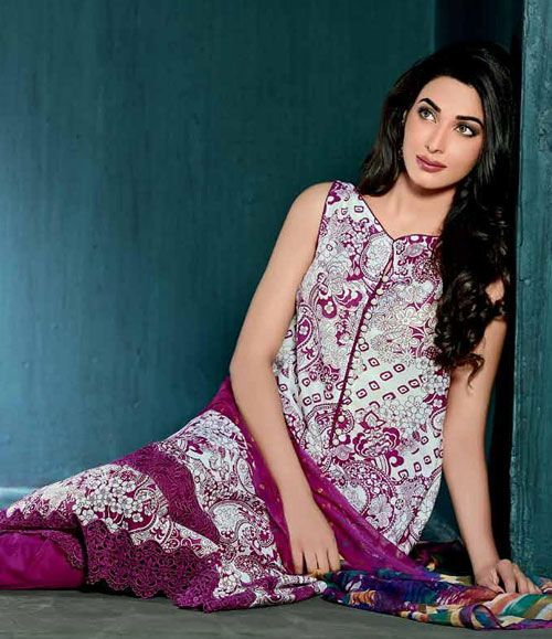 Gul Ahmed Embroidered Chiffon Collection Vol-1 C-160