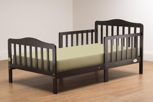 Orbelle 3-6T Toddler Bed, Espreso by Orbelle Trading. $71.35. From the Manufacturer                The Orbelle Toddler Bed is a, Solid Wood, Contemporary, Bed for your Toddler. The Contemporary Toddler Bed is set at preciously the right height. It has Been Designed so that Your Toddler can Safely get in and out of bed. The Orbelle Toddler Bed Comes Complete with Two Side Safety Rails, therefore preventing, your child from falling out, of the bed while sleeping...